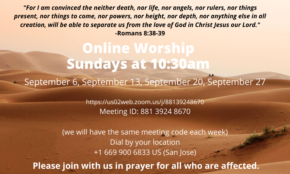 Worship for August 2020 (2)