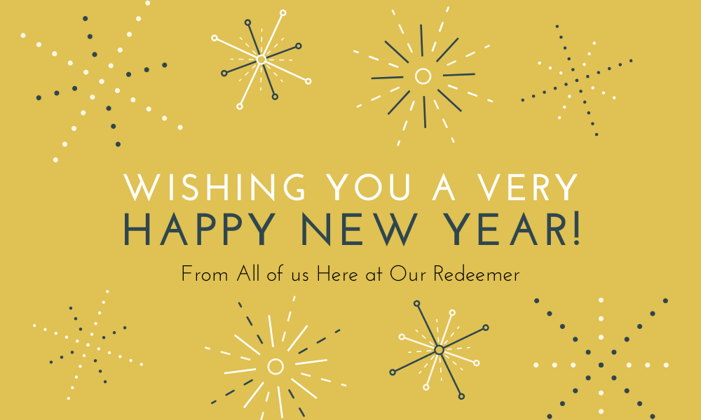 Yellow Sparkly New Year Card