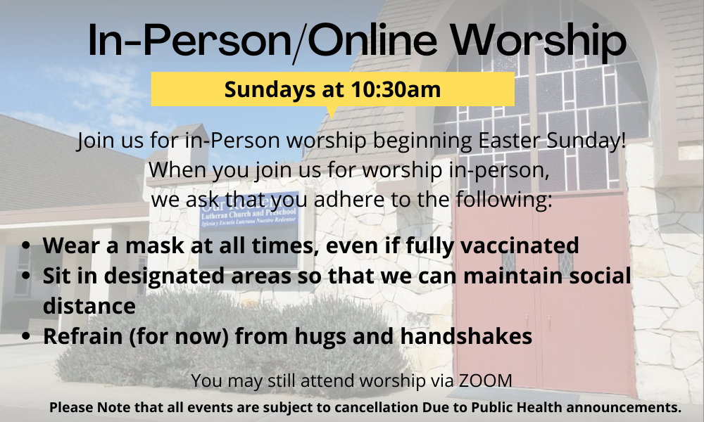 in-person Worship Guidelines